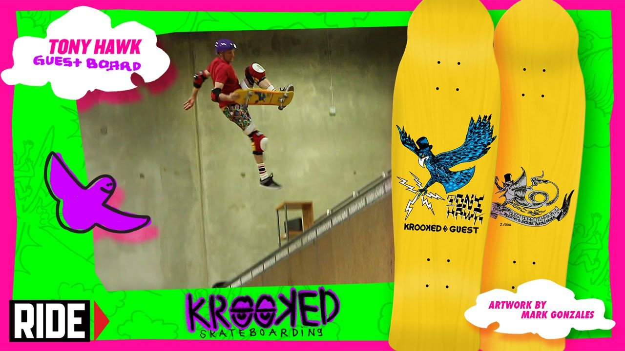 Tony Hawk + Krooked Skateboards Collaboration