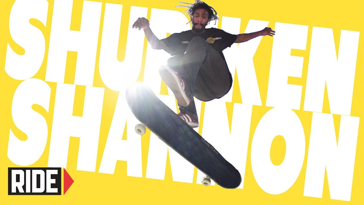 Shuriken Shannon Skateboarding in Slow Motion – Inward Heelflip