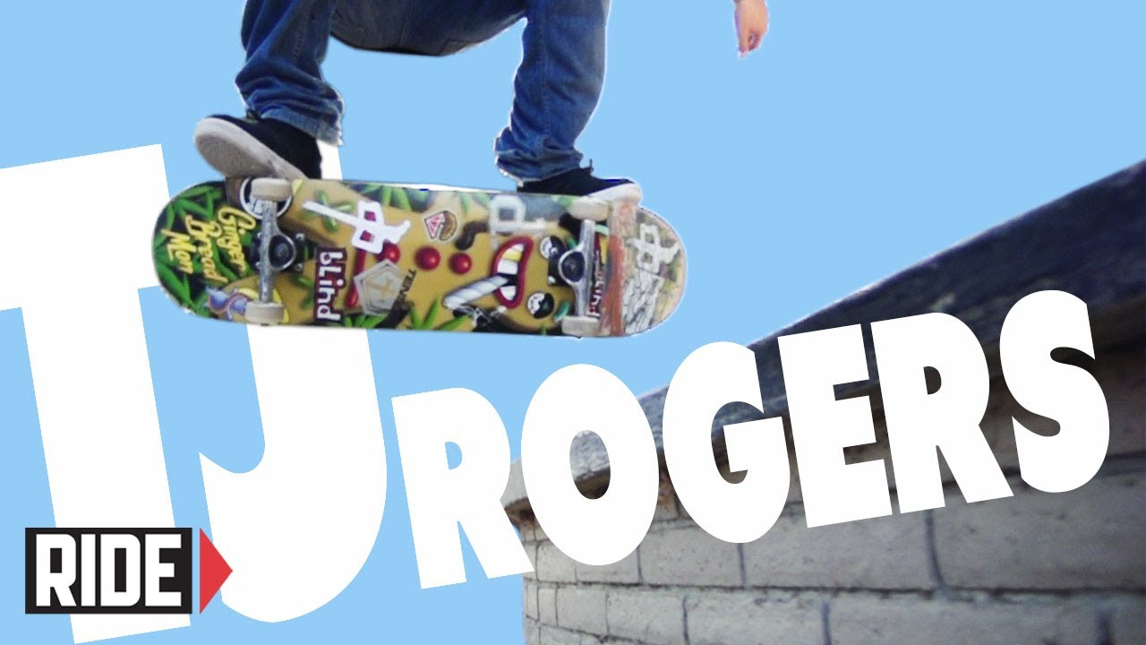 TJ Rogers Skateboarding in Slow Motion – Halfcab Heelflip Noseslide Bigspin Out