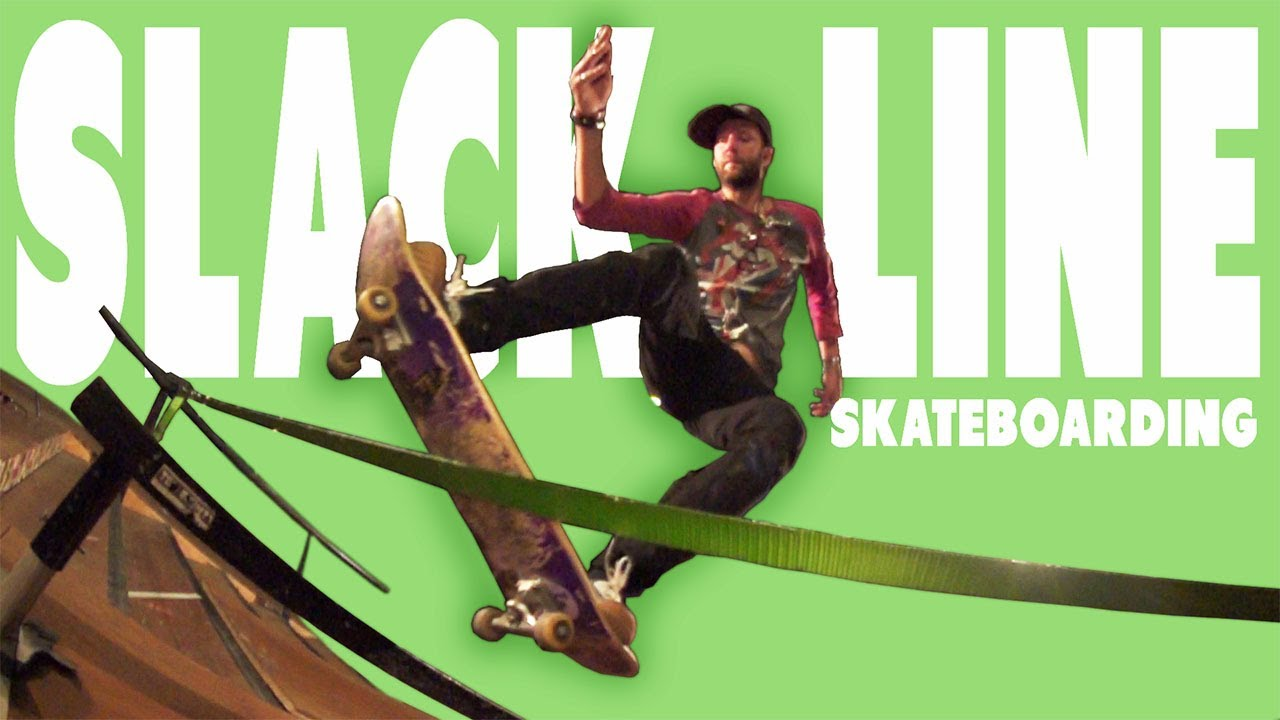 Micah Hollinger Skateboarding in Slow Motion – Slack Line